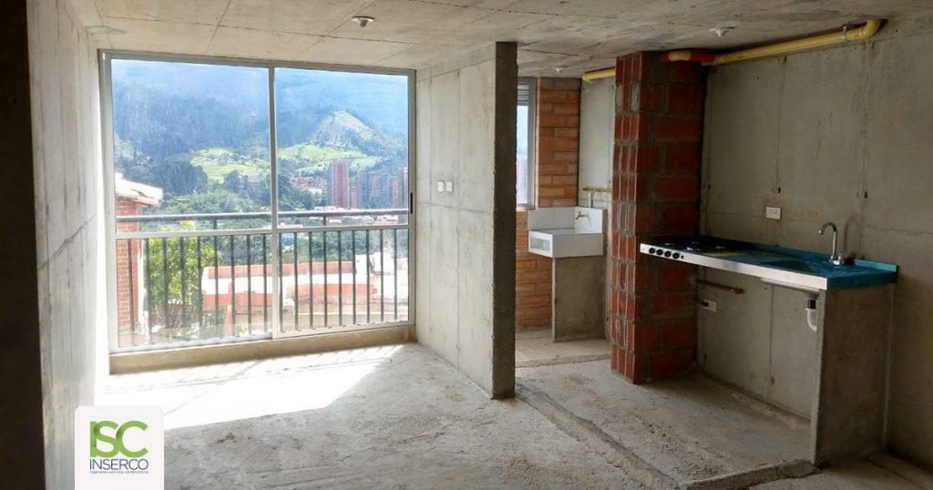 acabados para apartamentos en obra gris
